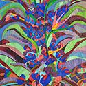 Caroline Larsen, Blue Flora, 37 x 34 inches, oil on canvas, 2014 NEW